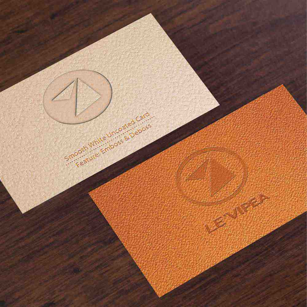 Duplex luxury business card with embossed & debossed printing ...