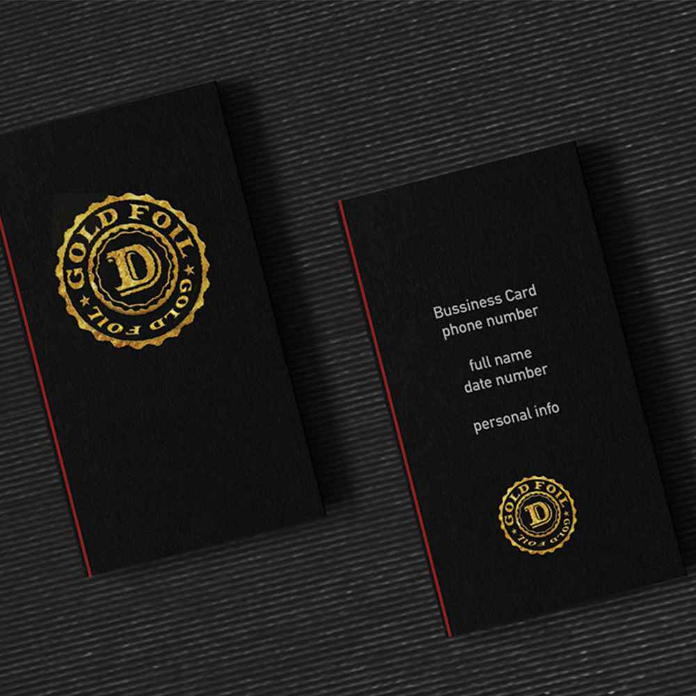 Triplex luxury business card on silky paper & foil printing ...