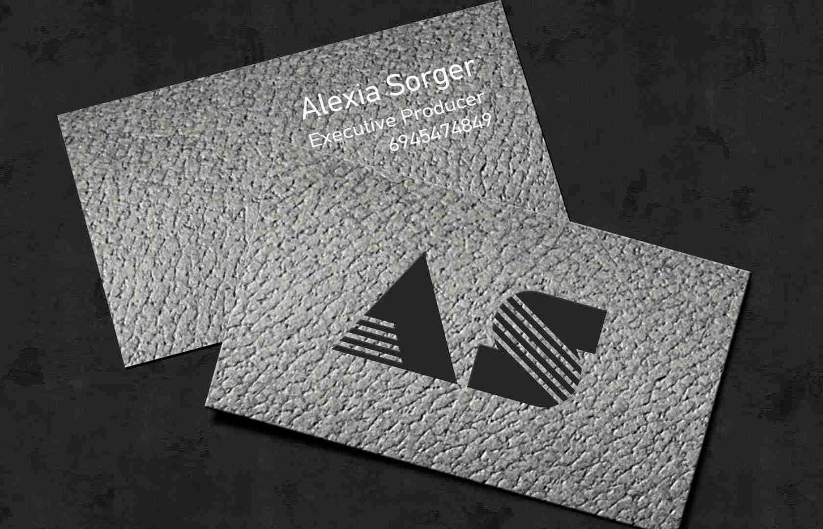 luxury business card b/w foil stamp print | GraphType.com
