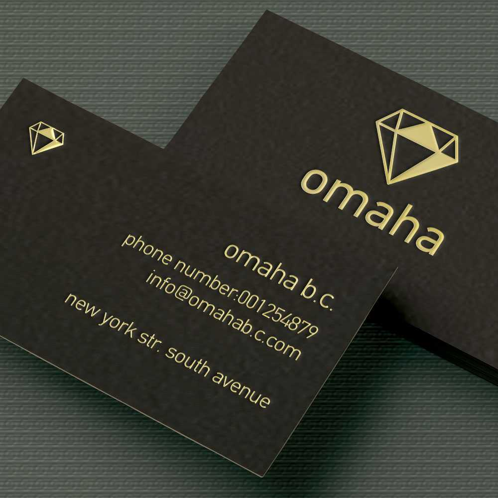 Simplex layered luxury business card on dark brown matte paper with ...
